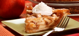 Apple pie on plate